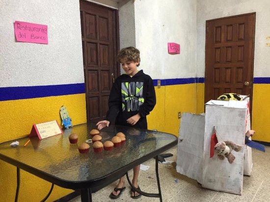 Oaxaca, México: My son in one of the many activities en espanol