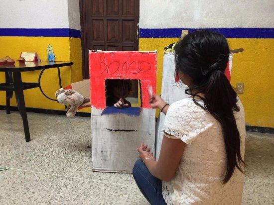 "Oaxaca, México: My boy's favorite game is to be a ""cajero automatico"""
