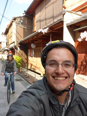 though i look like a dork we re having fun 下京区 cycle kyotoの