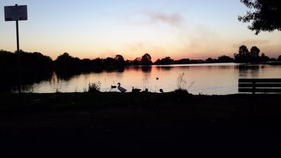 Finley, Australia: SUNSET Across the road at the lake