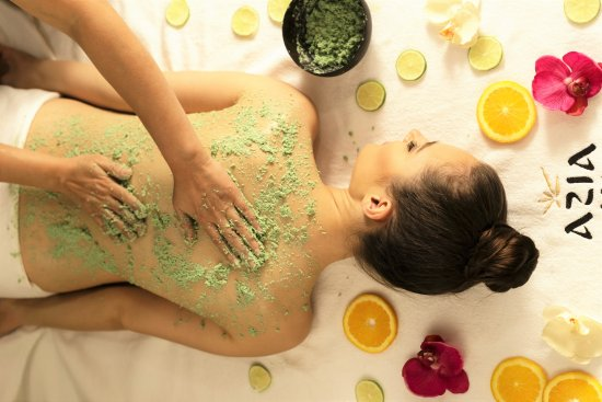 Spa Centre Azia Spa: Exotic Bali body scrub AZIA SPA