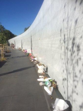 Bridge of Remembrance: New Earthquake Memorial Wall.