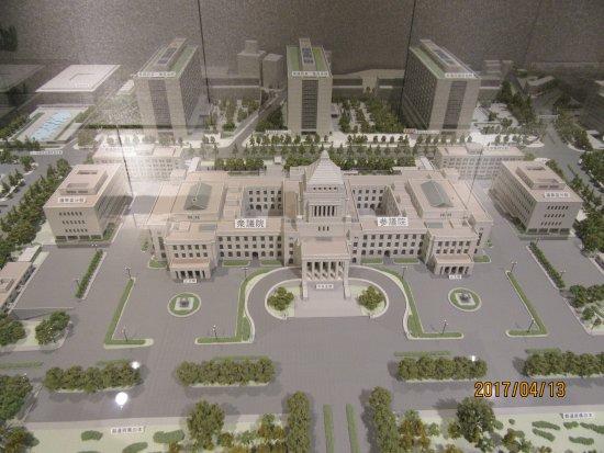 National Diet Building: 展示物、模型
