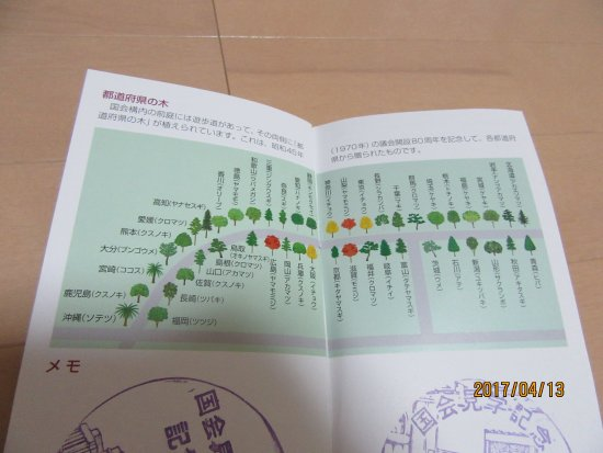 National Diet Building: 都道府県の木