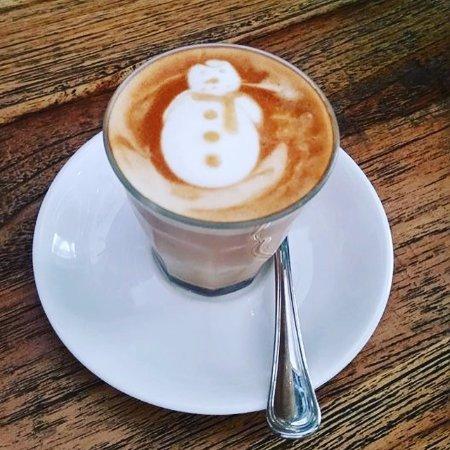 Christmas Latte Art