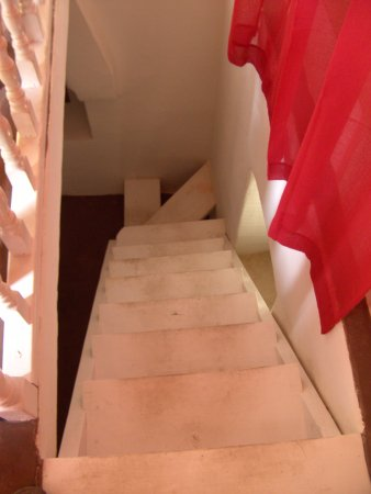 Halki, Grecia: Stairs to bedroom