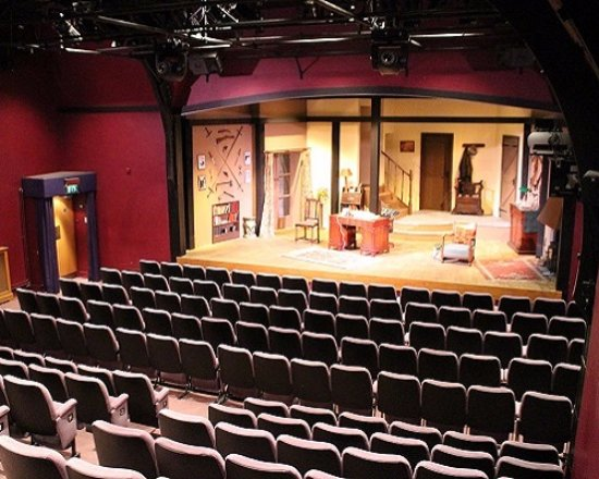 """The Miller Centre Theatre: The theatre with set of Ira Levin's """"Deathtrap"""""""