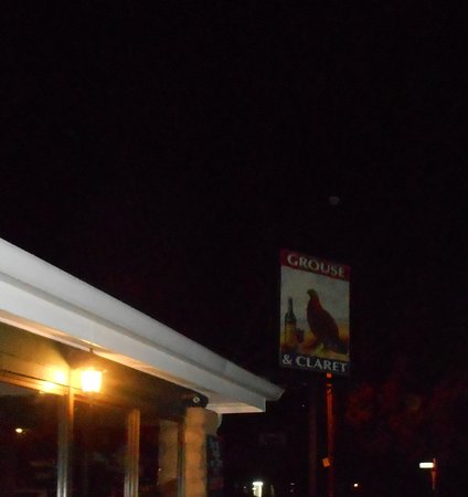 Grouse and Claret: Traditional Pub Sign