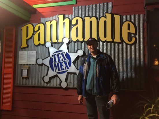 Panhandle Tex Mex Eatery & Bar: in front of the restaurant