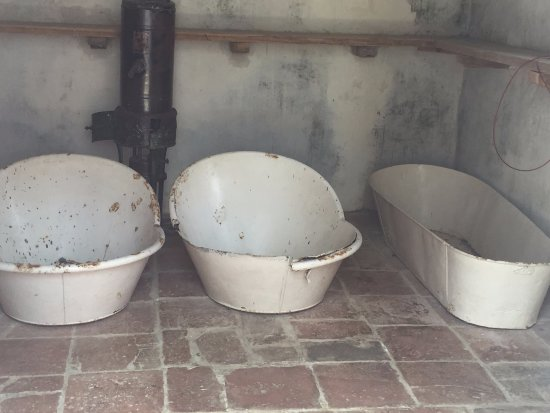 Saint Peter Parish, Barbados: Old tubs in outhouse