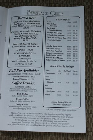Clarksville, IN: Beverage Guide - they have drink specials too
