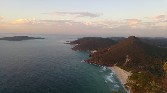 Fingal Bay, Australia: View from the top.