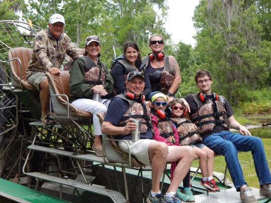 Alligator Cove Airboat Nature Tours : Scott Linder family  and friends.  North Reedy Creek