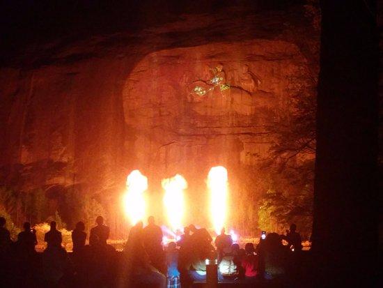Lasershow Spectacular at Stone Mountain Park: Impressive Pyro!