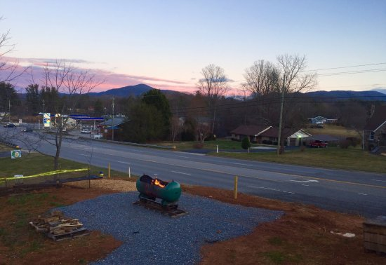 Fairview, NC: Sunset from the deck.