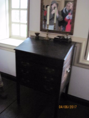 Bryn Mawr, PA: Charles Thomson's file desk where he kept the Declaration of Independence.