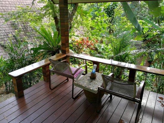 "Khao Sok Las Orquideas Resort: Balcony, ""Standard Bungalow"" number 6"