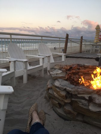 The Shores Resort & Spa: From our cabana room and making s'mores by the fire pits.