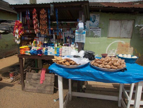 Local fare in Busua village