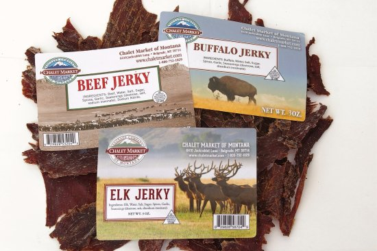 Beograd, MT: We make Buffalo, Elk and Beef Jerky onsite in our USDA meat plant.