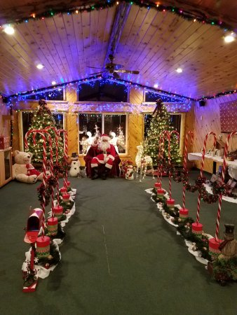 Island Park, ID: Santa in  Lodge