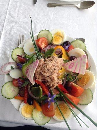 Gorbio, France: Una delle entrèe del menù - piatto nizzardo