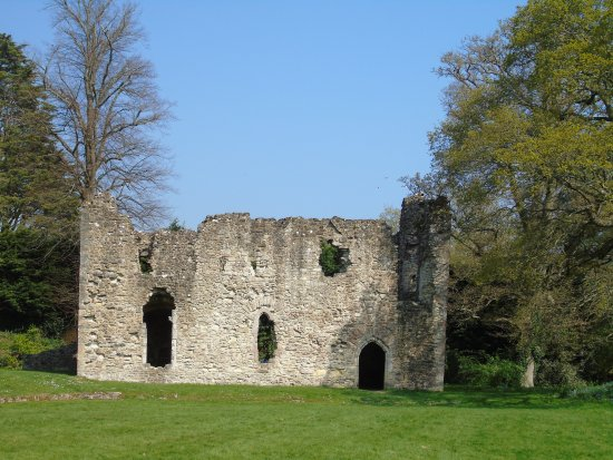 Netley Abbey: The Abbot`s House in splendid isolation