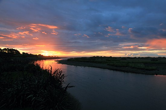 New Plymouth, New Zealand: Sunset from the Te Rewa Rewa Bridge