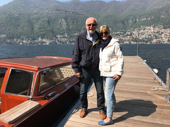 Casta Diva Resort & SPA: Beginning boat trip around Lake Como