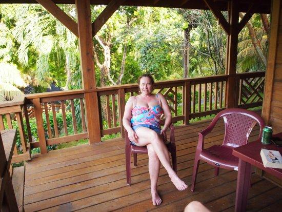Sundancer Cabanas Roatan Beach Front: Deck