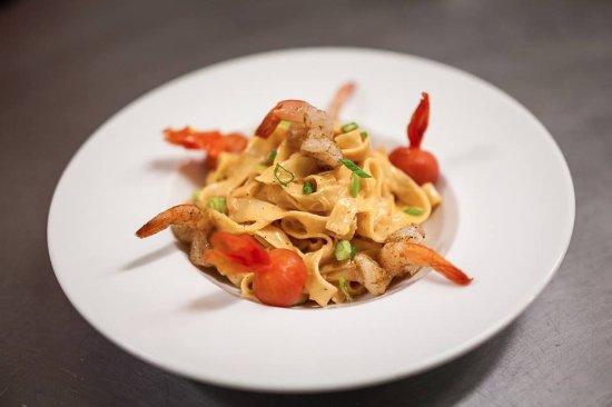 Stoneham-et-Tewkesbury, Canada: Pâtes aux Crevettes, offert en repas du soir (Sujet à changement)