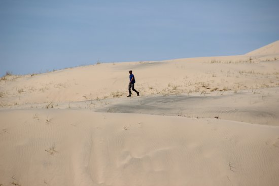 Essex, CA: Kelso Dunes - Return from the peak
