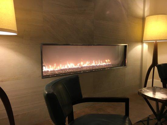 Pretty Fireplace Near Bar End