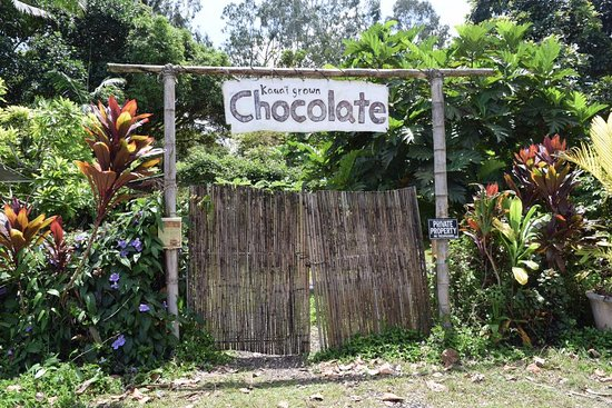 Kilauea, HI: Front to chocolate paradise!