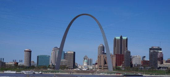 East Saint Louis, IL: View of the arch from the overlook structure