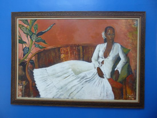 National Museum and Art Gallery: a painting in the art gallery