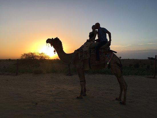 Dechu, India: Sunset Camel safari