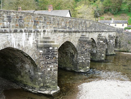 Dulverton, UK: Ancient Dulvertin Bridge over the Famous  River Exe