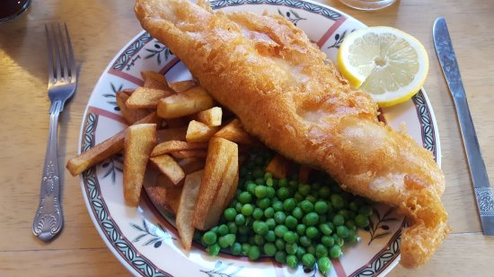 Stelling Minnis, UK: Amazing gluten free battered Fish & Chips! Thank You Siobhan