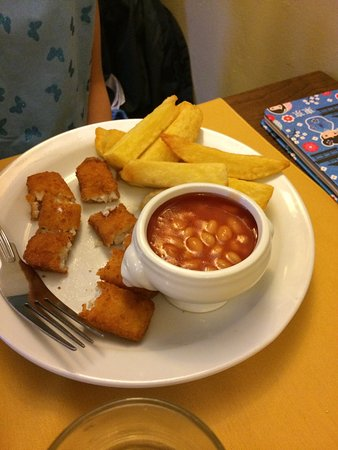 The Pheasant Inn : Lovely adult meals, freezer fish fingers