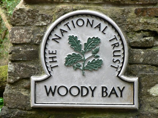 Parracombe, UK: Entrance to Neighbouring National Trust Woodlands