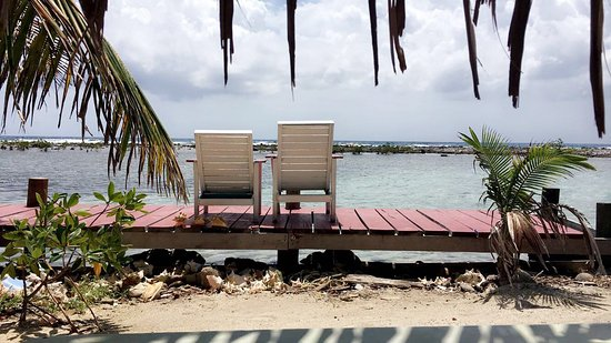 Tobacco Caye, Belize: Taken from the porch of the cabana.