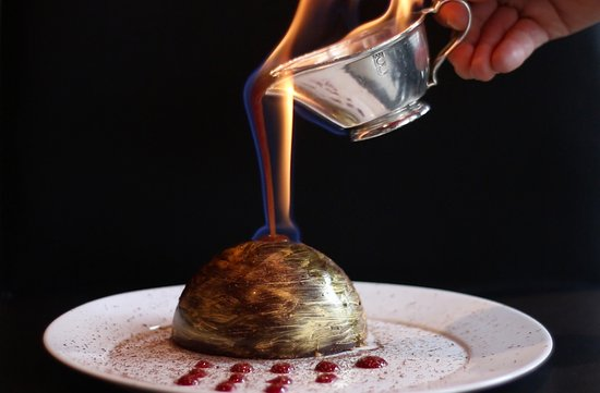 Code Ambiance : Dôme doré chocolat, passion & caramel flambé