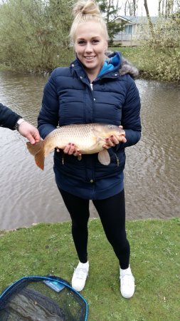 Sutton on the Forest, UK: One of my daughters fish a 9lb carp.