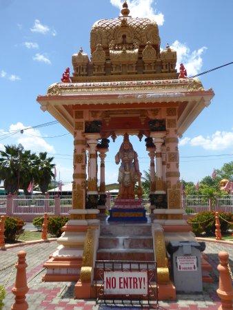 Dattatreya Temple and Hanuman Statue: a covered statue