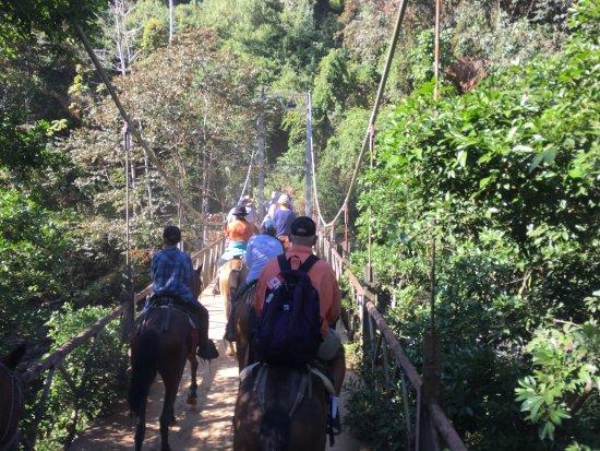 Dominical, Costa Rica: The Bridge on horseback