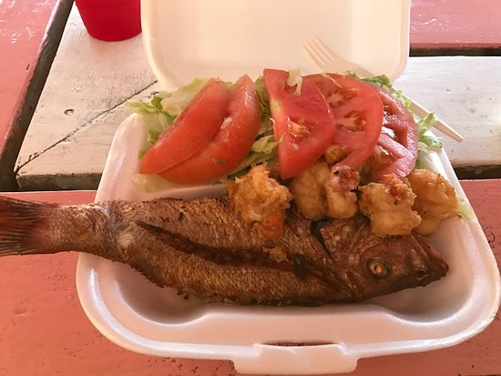 Mckenzie 39 s fresh fish and conch nassau restaurant for Fried fish and shrimp