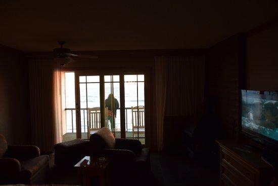Cavalier Oceanfront Resort: inside looking to sea; room 274