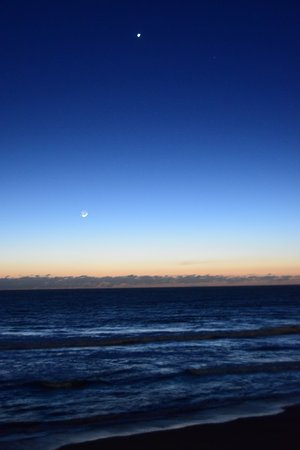 Cavalier Oceanfront Resort: new moon and saturn from room 274 feb 2017