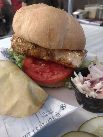 Indian Harbour Beach, FL: Best Blackened Mahi Sandwich in the area created by Chef VJ